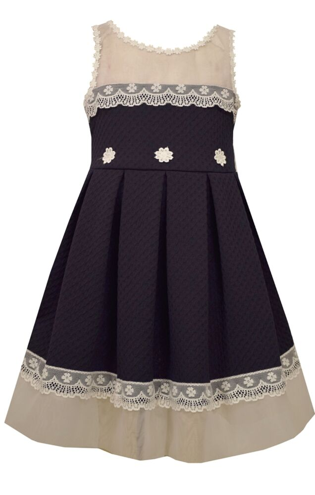 Bonnie Jean Easter Special Occasion Girls Lace Trimmed
