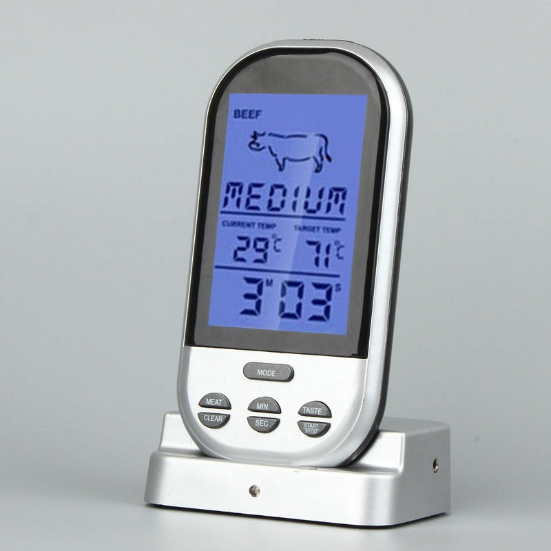 funk grillthermometer bratenthermometer fleischthermometer bbq thermometer 250 c ebay. Black Bedroom Furniture Sets. Home Design Ideas