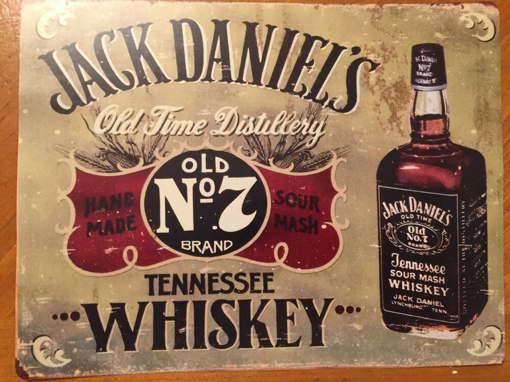 tin sign vintage jack daniels tennessee whisky 4 ebay. Black Bedroom Furniture Sets. Home Design Ideas