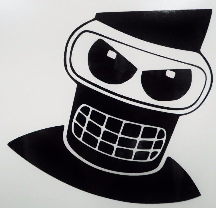 Angry Bender Futurama Cool Car Window Vinyl Decal Sticker