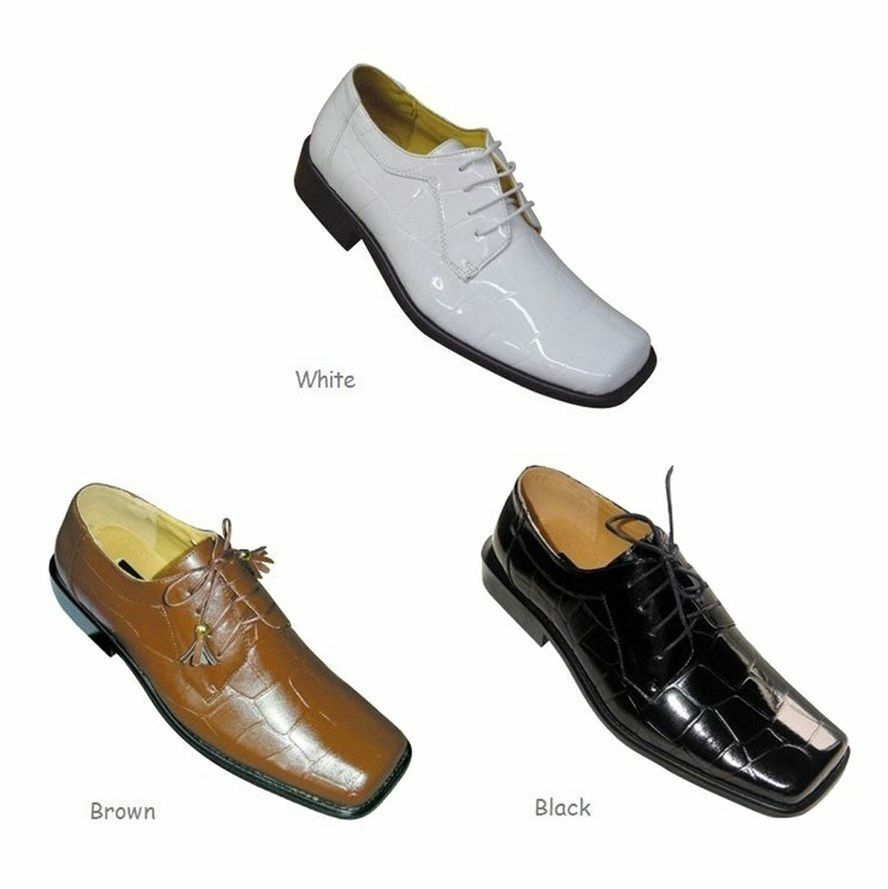 Brown And White Wingtip Dress Shoes