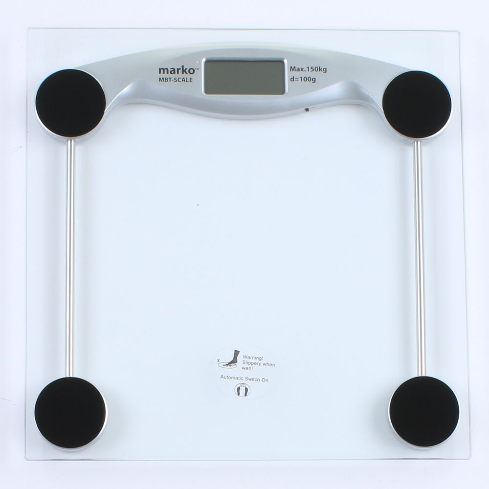 Electronic Bathroom Weighing Scales: 150KG Digital Electronic Glass LCD Display Bathroom