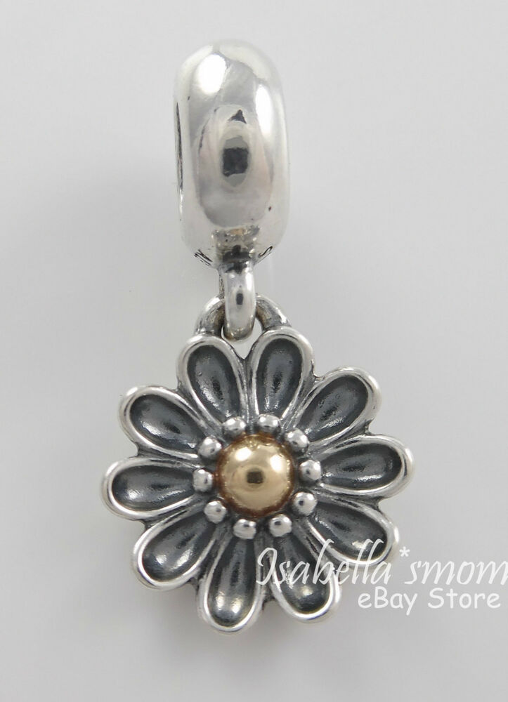 Oopsie Daisy Authentic Pandora Silver 14k Gold Two Tone