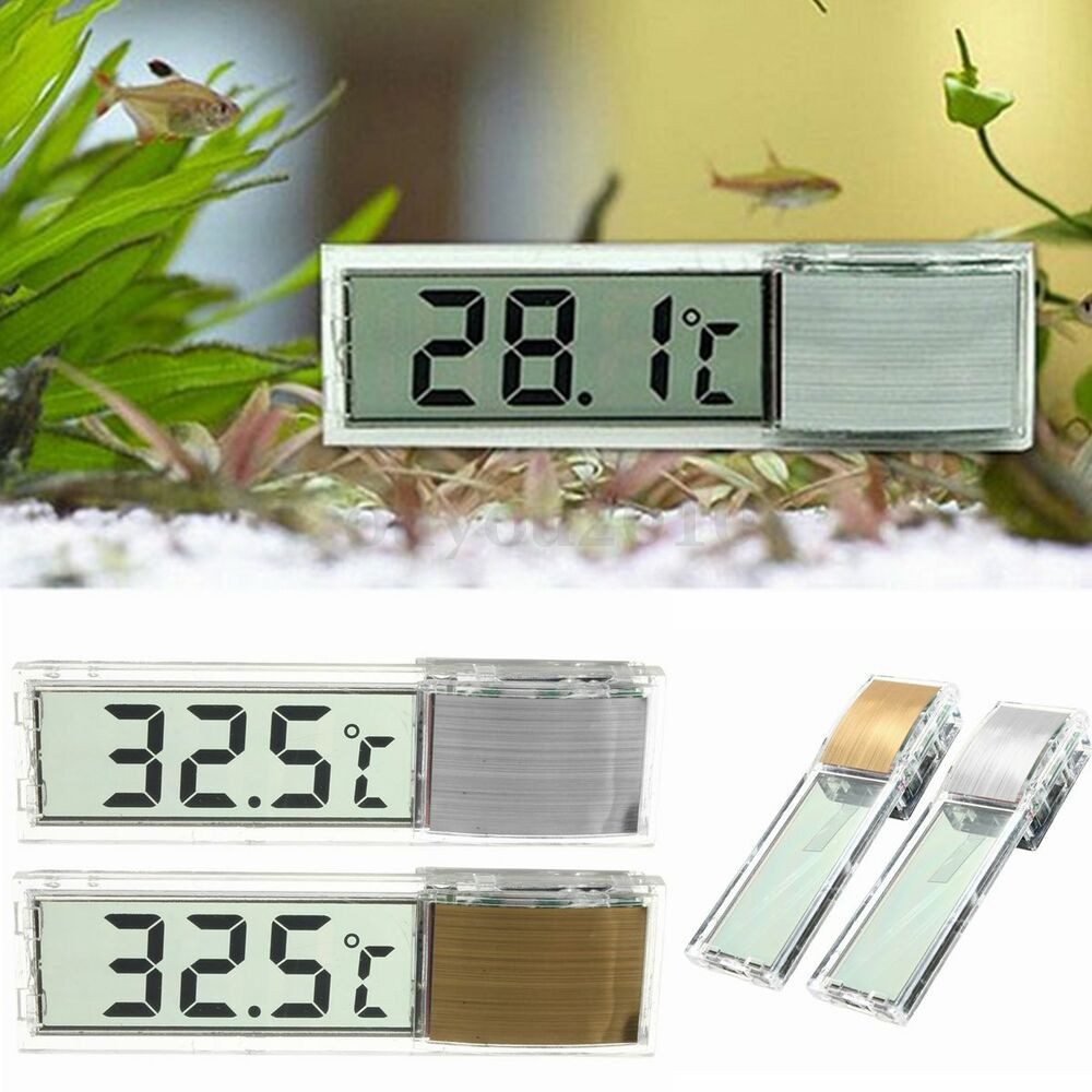 Lcd 3d crystal digital electronic aquarium thermometer for Fish tank temperature