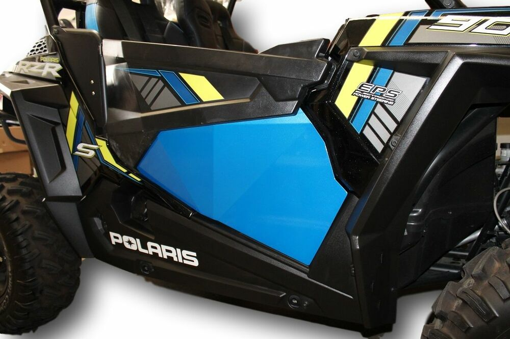 Blue rzr 1000 xp1k xp1000 and turbo lower door panel for 1000 door