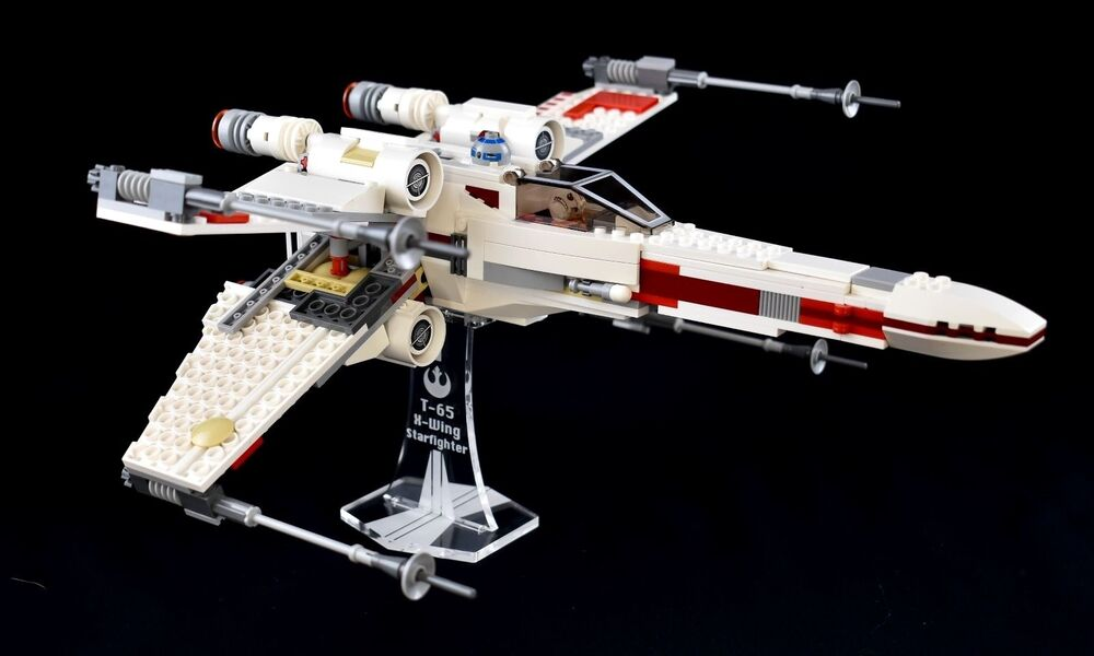 star wars lego 9493 x wing starfighter custom display stand only ebay. Black Bedroom Furniture Sets. Home Design Ideas