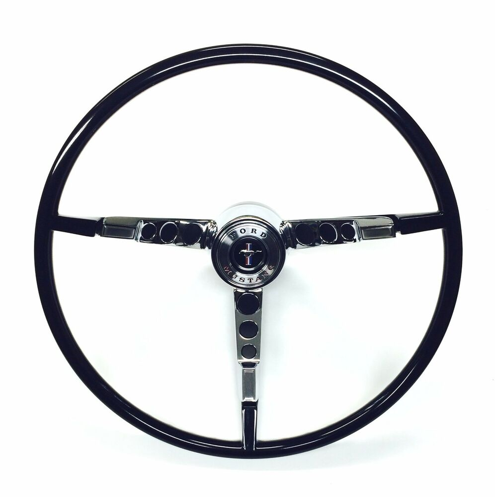 1966 ford mustang complete black classic steering wheel. Black Bedroom Furniture Sets. Home Design Ideas