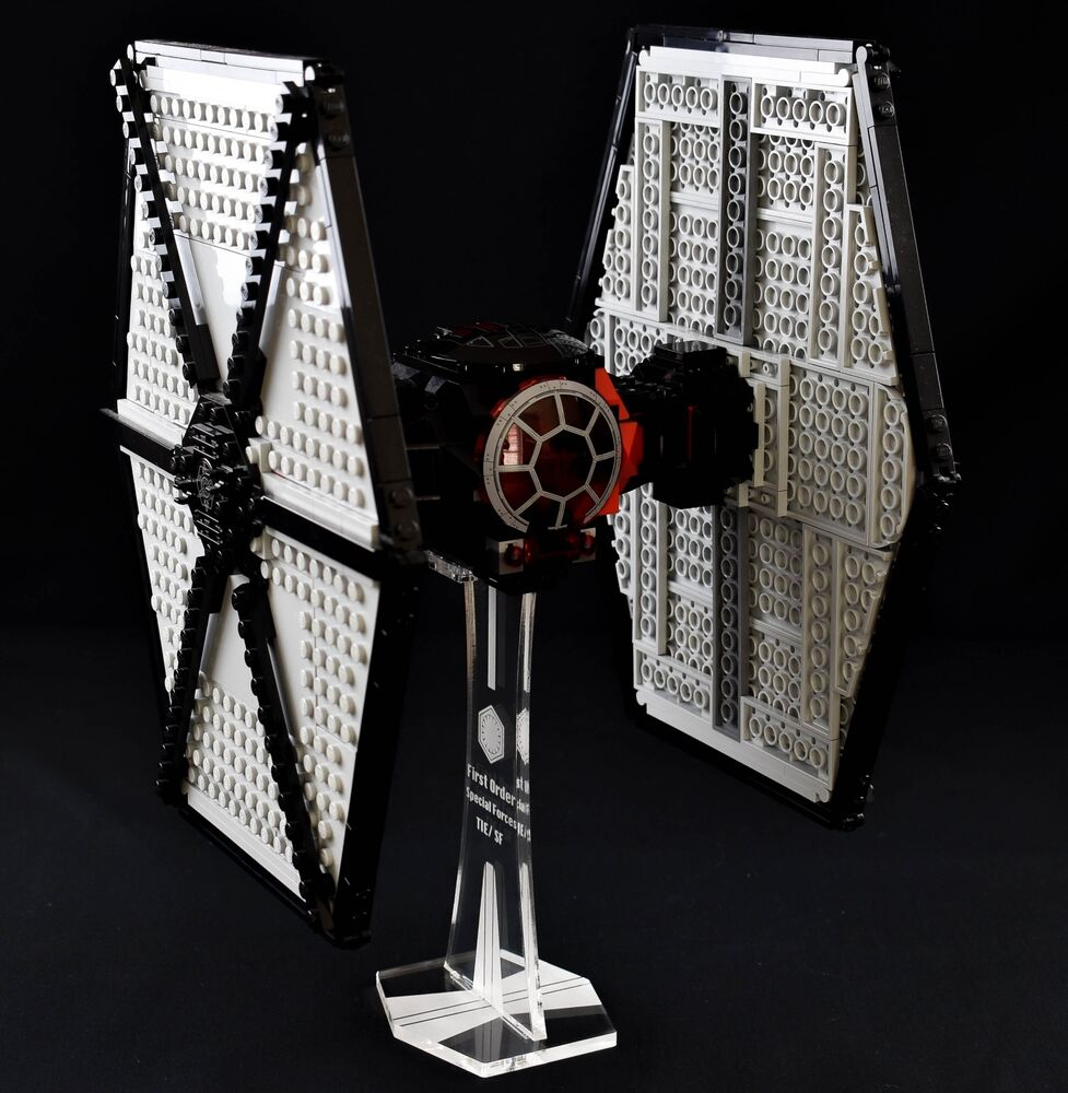 star wars lego 75101 first order tie fighter custom display stand only ebay. Black Bedroom Furniture Sets. Home Design Ideas
