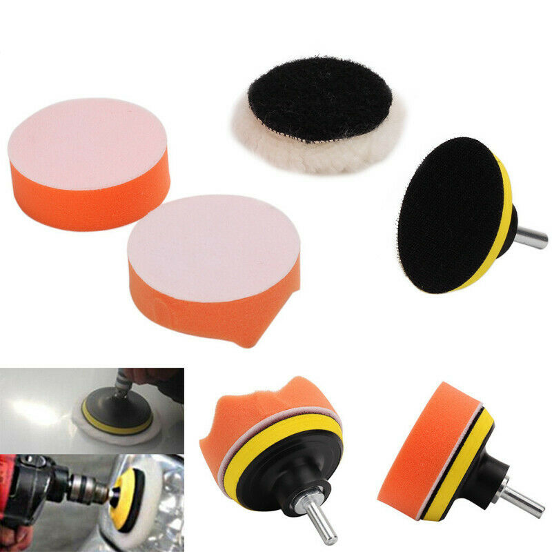 Gross Buffer Waxing Pad Kit +Drill Adapter For Car Shell