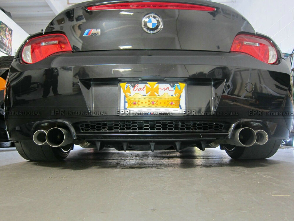 New Rear Bumper Diffuser Lip 02 08 For Bmw E85 E86 Z4 Z4m Roadster Carbon Fiber Ebay