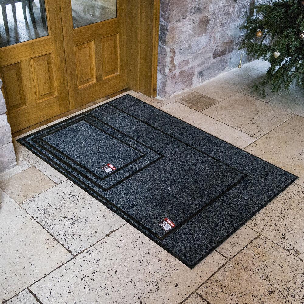 door mats heavy duty large small floor door mat non slip rug rubber backed ebay. Black Bedroom Furniture Sets. Home Design Ideas