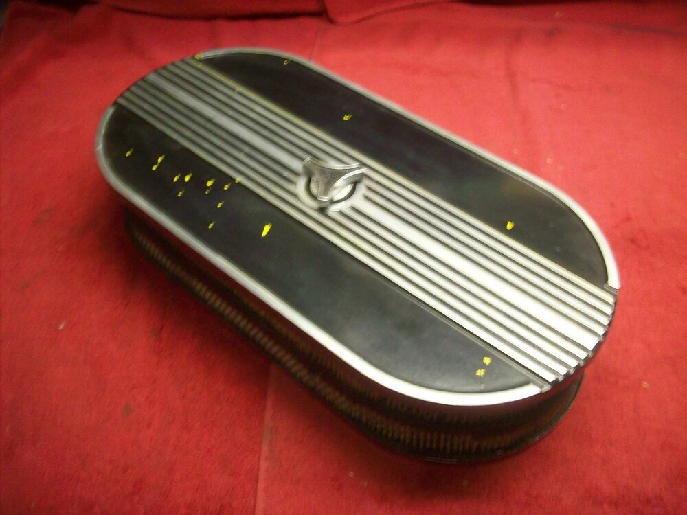 Tunnel Ram Scoop Air Cleaner : Vintage s dual quad aluminum air cleaner hot