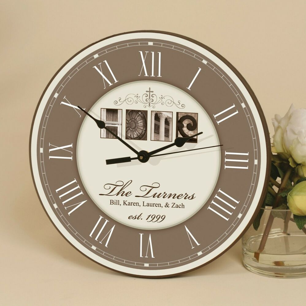 Personalized Laser Engraved Wall Clock Home Great
