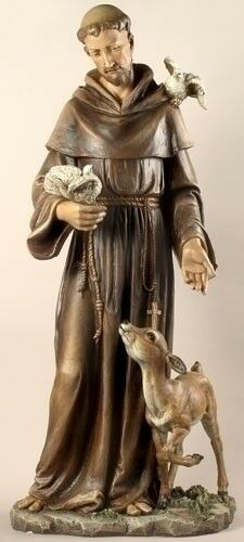 St Francis Of Assisi W Deer Garden Statue 36 5 Quot Tall