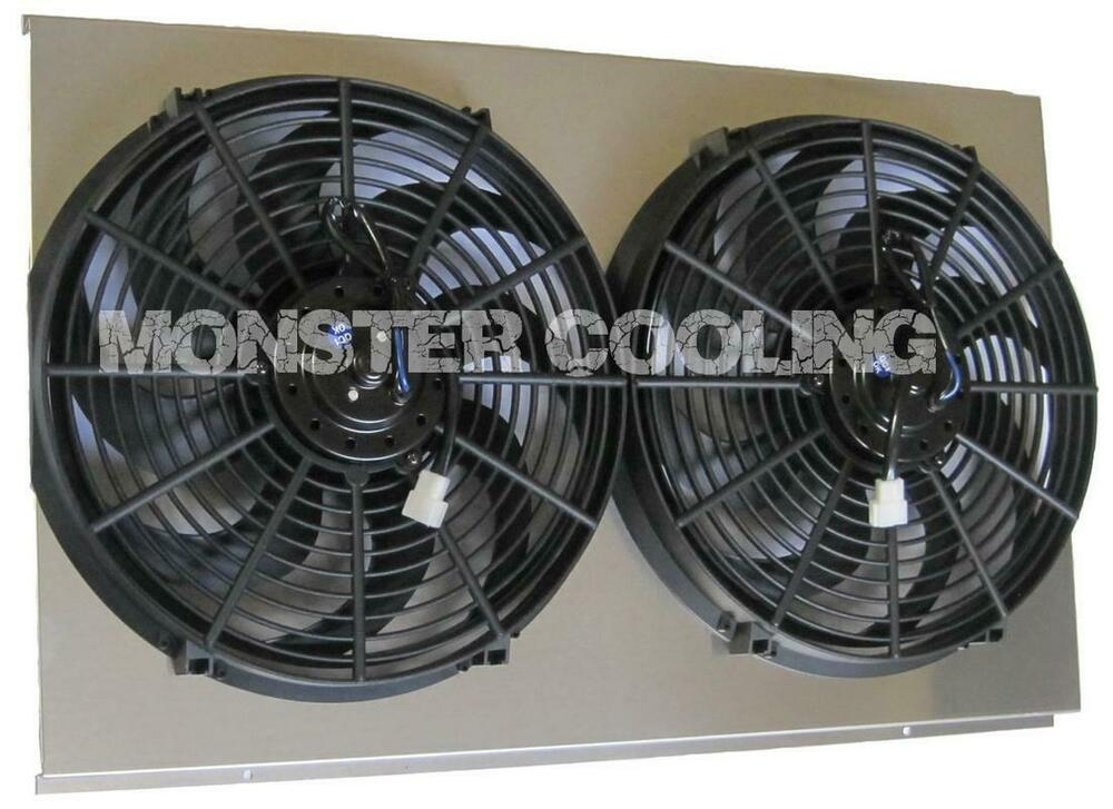 History About The Electric Fan : Caprice aluminum radiator fan shroud quot electric fans