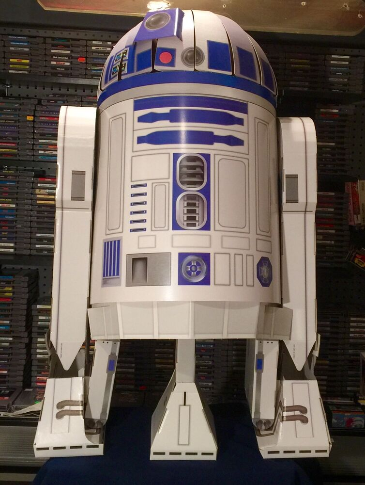 Life Size Star Wars R2d2 Store Display Prop Cardboard