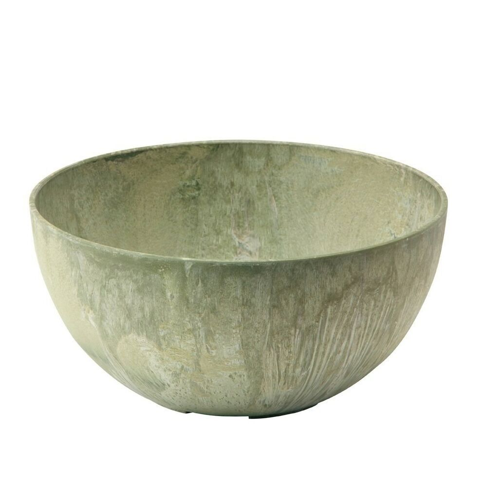 12 stone slate novelty planter bowl decorative gardening for Decorative outdoor pots