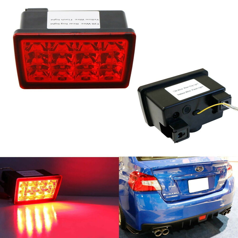 Red Lens F1 Style Led Rear Fog Light Brake Tail Lamp For