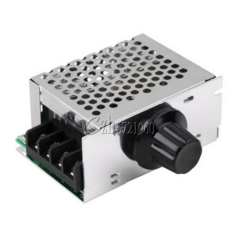 Ac 220v 4000w Scr Voltage Regulator Dimmer Motor Speed