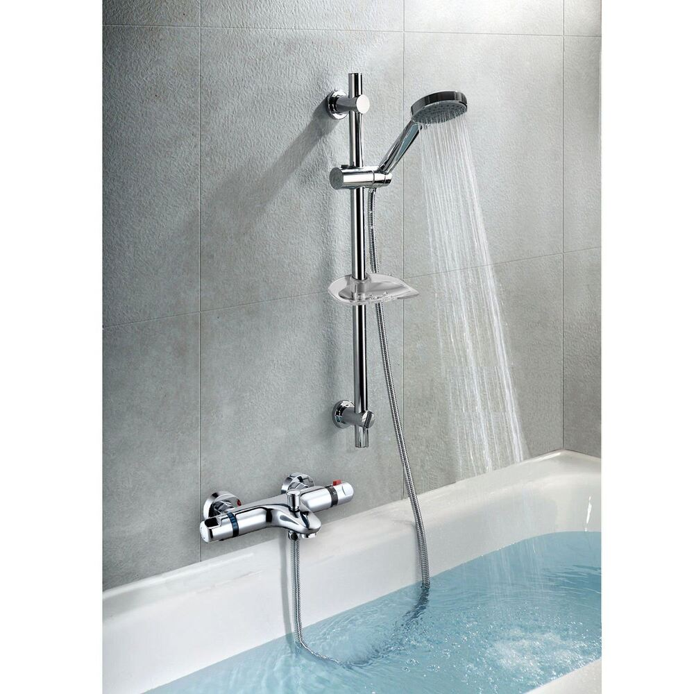 Thermostatic Wall Mounted Valve Bath Shower Mixer Riser