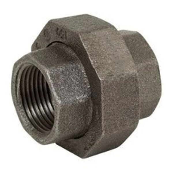 4 In Duct Fittings : Inch union malleable black iron pipe fittings threaded
