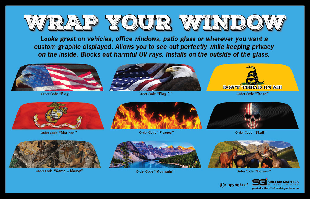 Custom Rear Window Graphic Decal Tint Print Sticker Truck