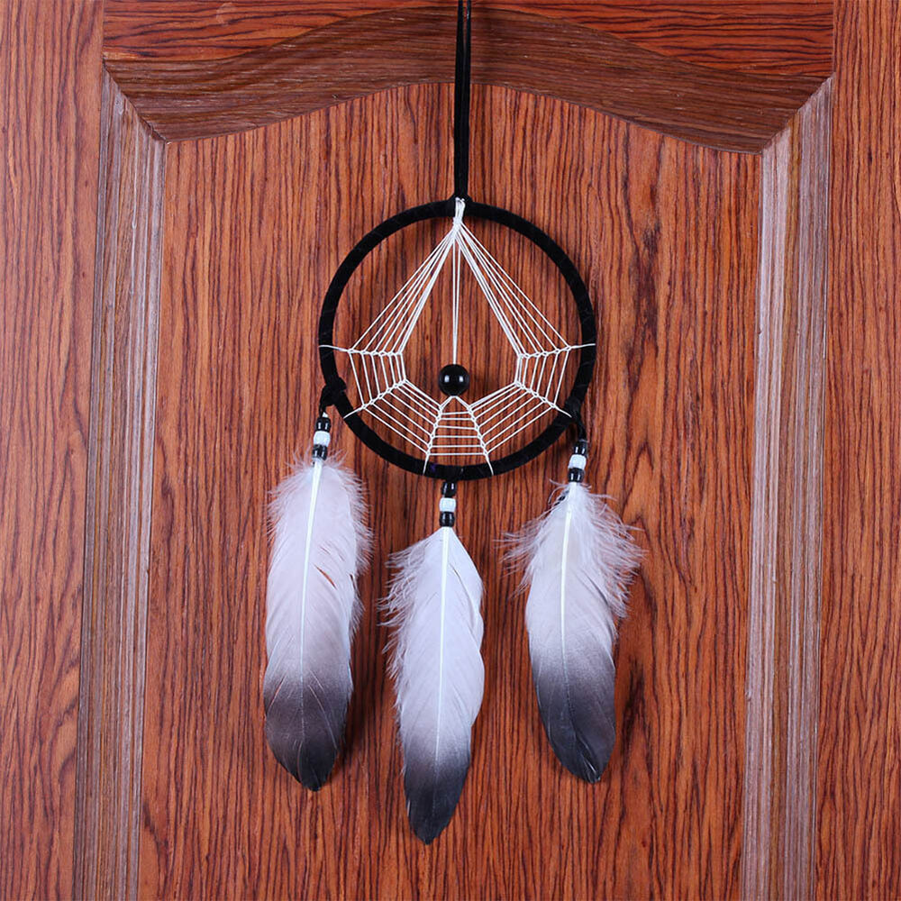 Handmade dream catcher with feathers wall hanging for Art for decoration and ornamentation