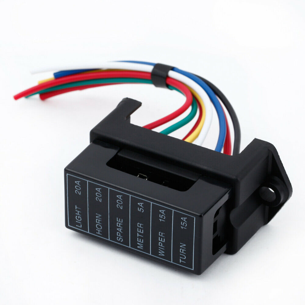 fuse holder box 8 way car vehicle circuit automotive blade