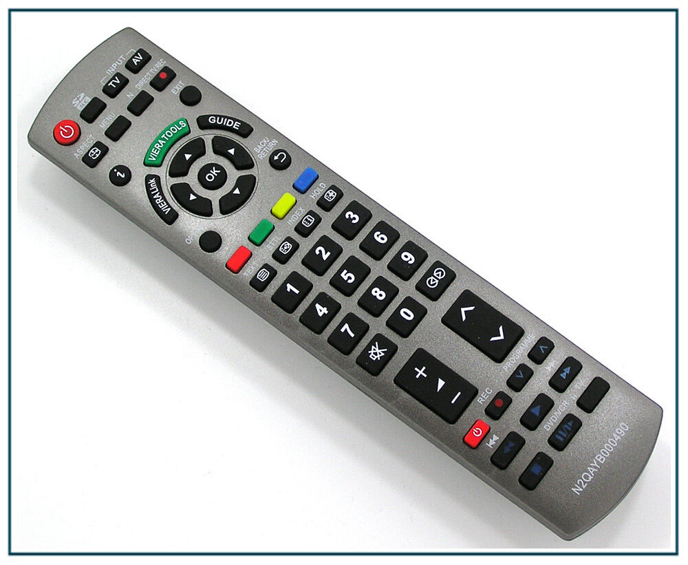 ersatz fernbedienung f r panasonic n2qayb000490 fernseher tv remote control ebay. Black Bedroom Furniture Sets. Home Design Ideas