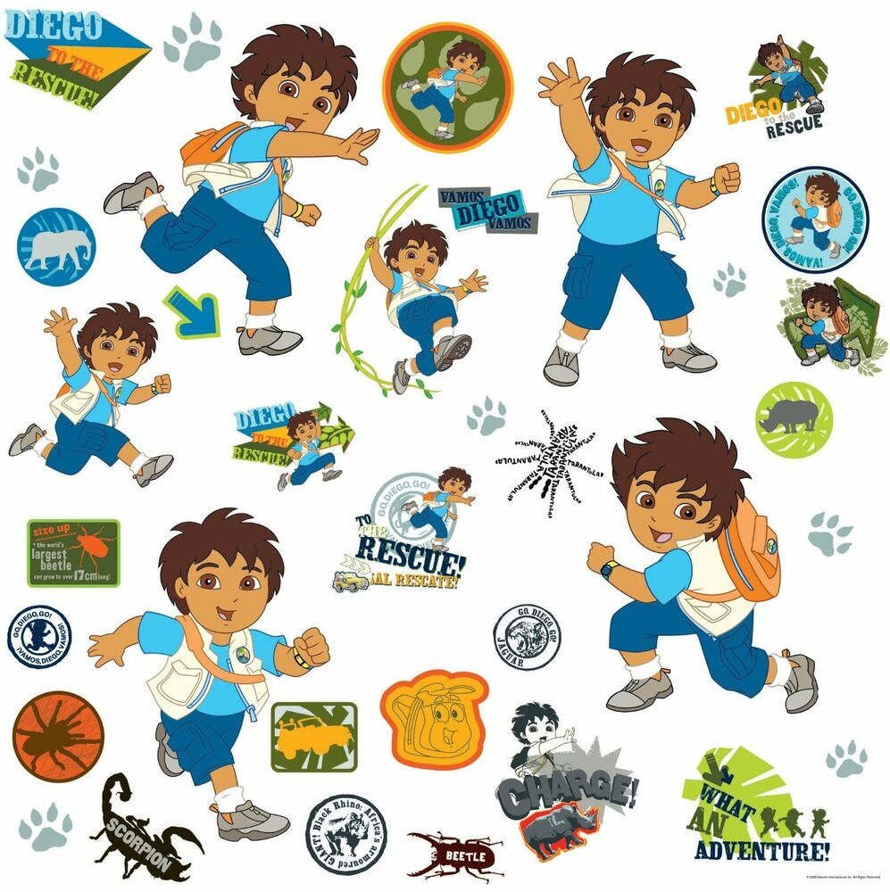 Roommates Rmk1379 Go Diego Go Peel Amp Stick Wall Decal Ebay