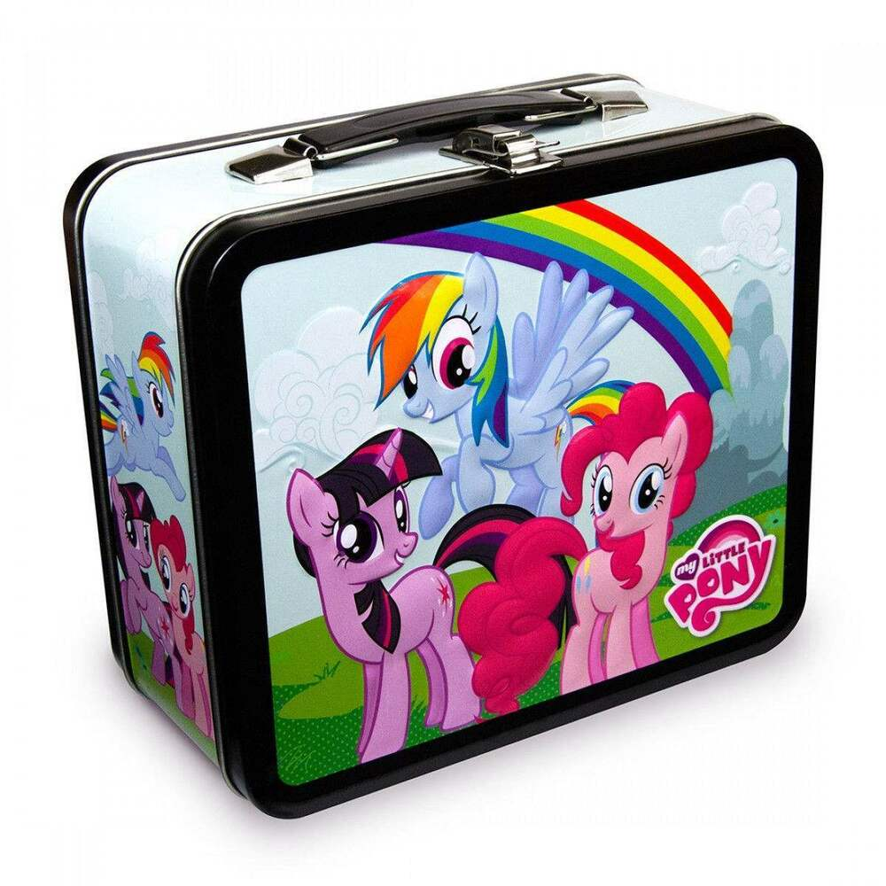 my little pony rainbow dash lunch box ebay. Black Bedroom Furniture Sets. Home Design Ideas