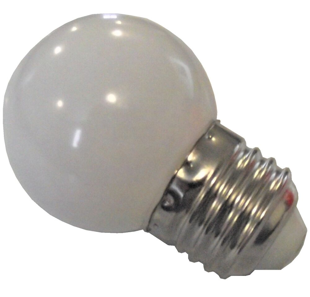 new led 1 white 1 watt brooder light attraction bulb for baby chicks quail duck ebay. Black Bedroom Furniture Sets. Home Design Ideas