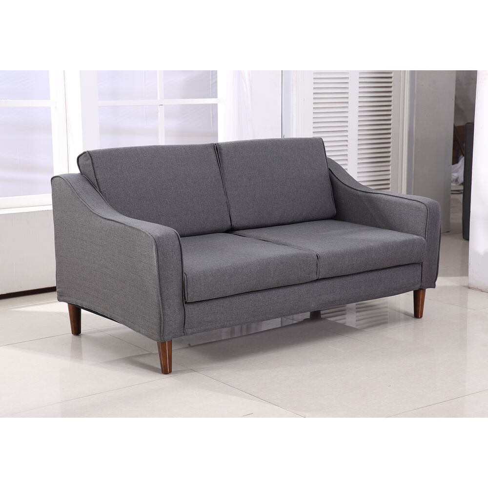 Homcom sofa chaise lounger living room couch lounge dorm for Modern living room sofa