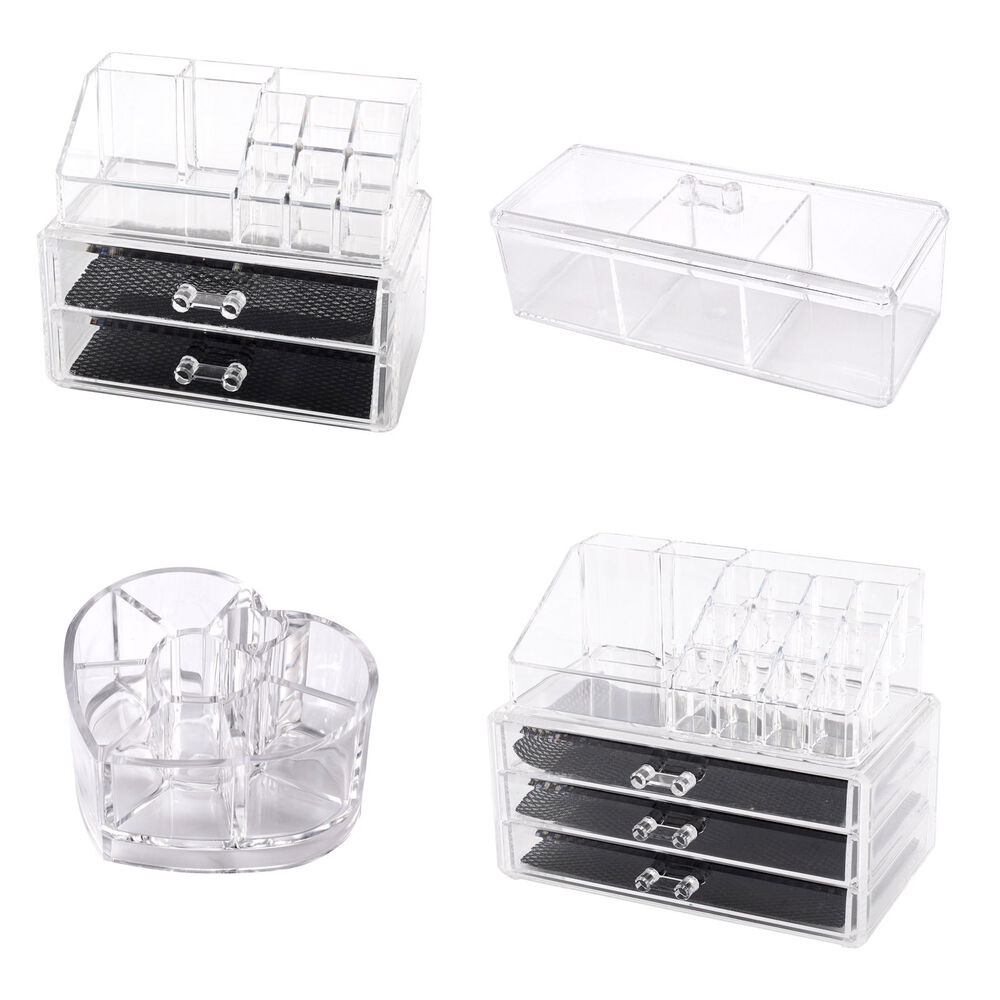 acryl kosmetik organizer makeup aufbewahrung acryl ordnungsst nder schubladenbox ebay. Black Bedroom Furniture Sets. Home Design Ideas