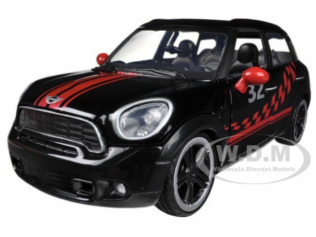 mini cooper s countryman racing black 1 24 diecast model by motormax 73773 ebay. Black Bedroom Furniture Sets. Home Design Ideas