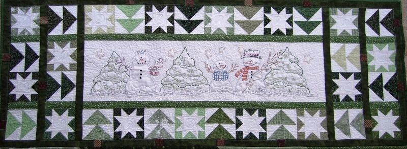 In The Meadow Hand Embroidery Quilt Table Runner Pattern