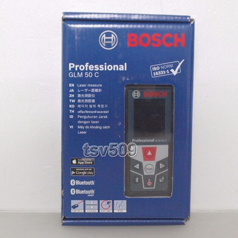 Bosch Professional Glm 50 C Laser Measure Bluetooth 50m