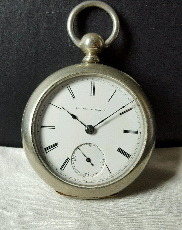 ILLINOIS WATCH CO. POCKET WATCH SERIAL#121914 ANTIQUE ...