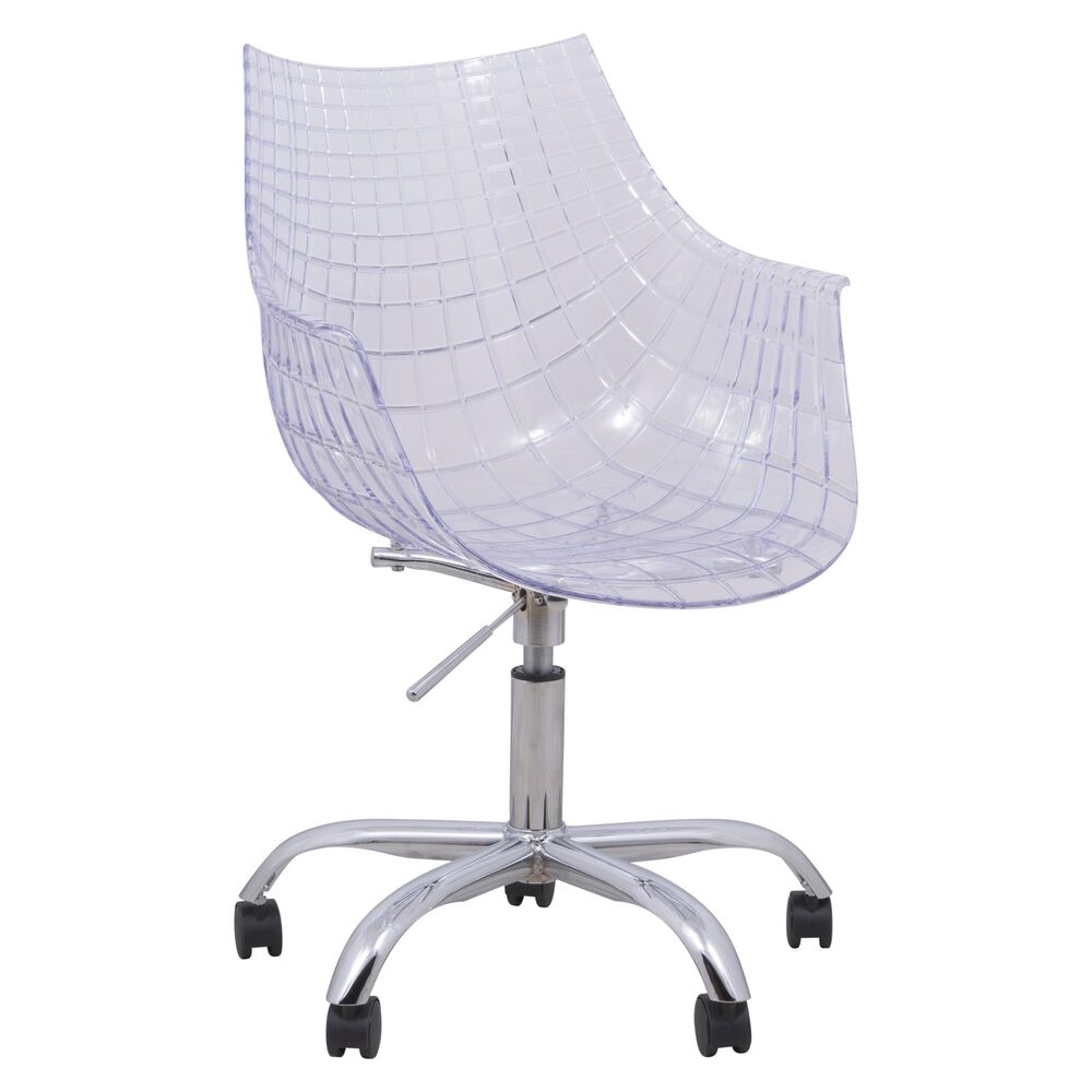 Ashville swivel arm chair with chromed leg in clear ebay for Swivel accent chairs with arms