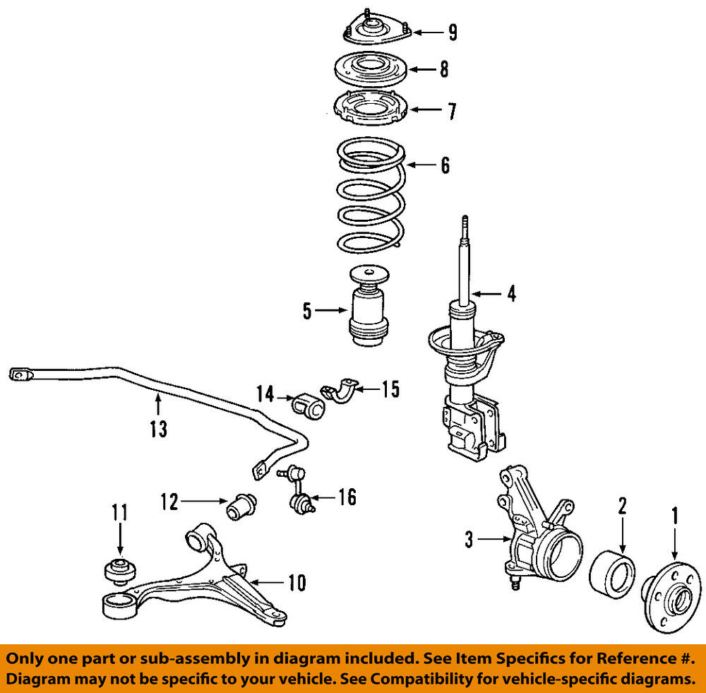 S L on Honda Element Rear Suspension Diagram