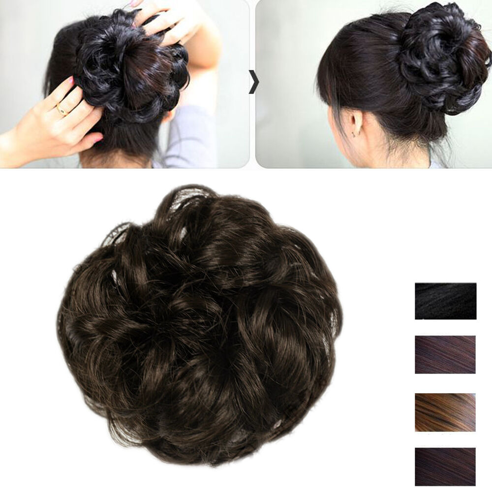 how to make a bun with curly hair