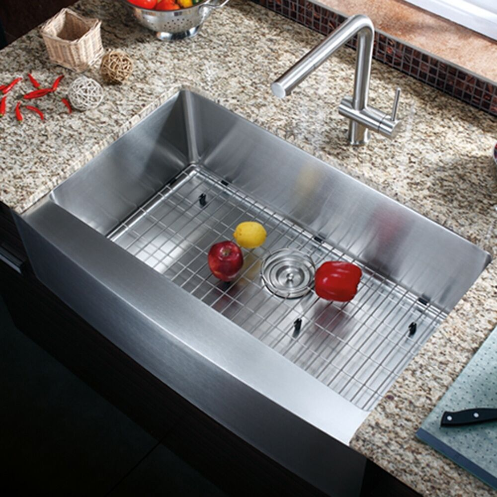 kitchen sink ebay 33 quot apron front stainless steel single bowl farmhouse 2692