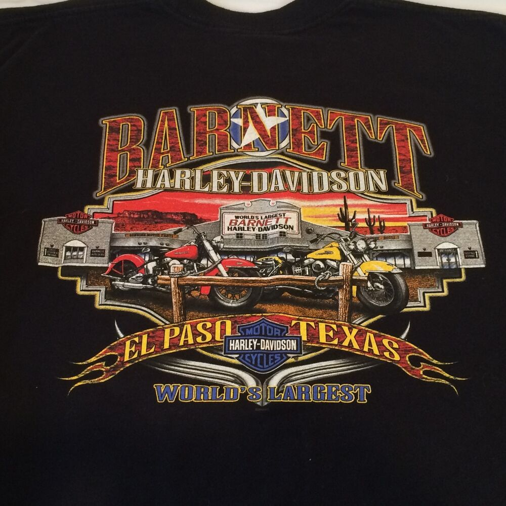 men s barnett harley davidson el paso tx black t shirt. Black Bedroom Furniture Sets. Home Design Ideas