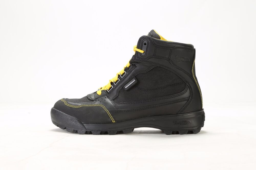 vintage men s vasque contender gore tex hiking boots v 569 black yellow ebay. Black Bedroom Furniture Sets. Home Design Ideas