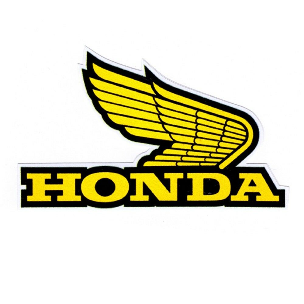 honda yellow wing logo car motorcycle bike racing team badges stickers decals ebay. Black Bedroom Furniture Sets. Home Design Ideas