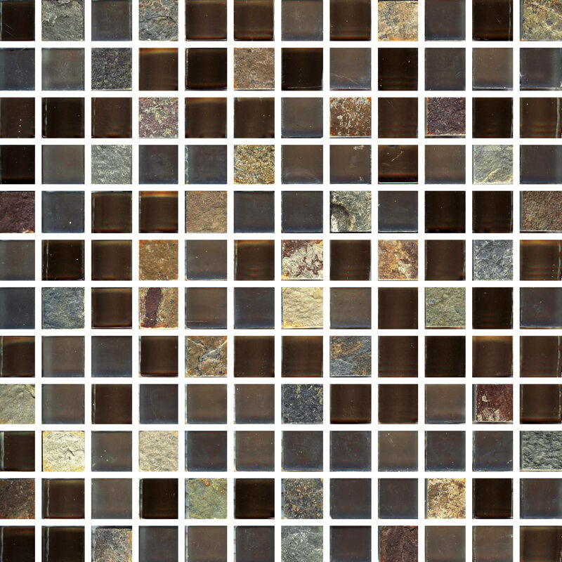 Salvador square 12x12x3 8 mesh mounted glass stone for Installing glass tile with mesh back
