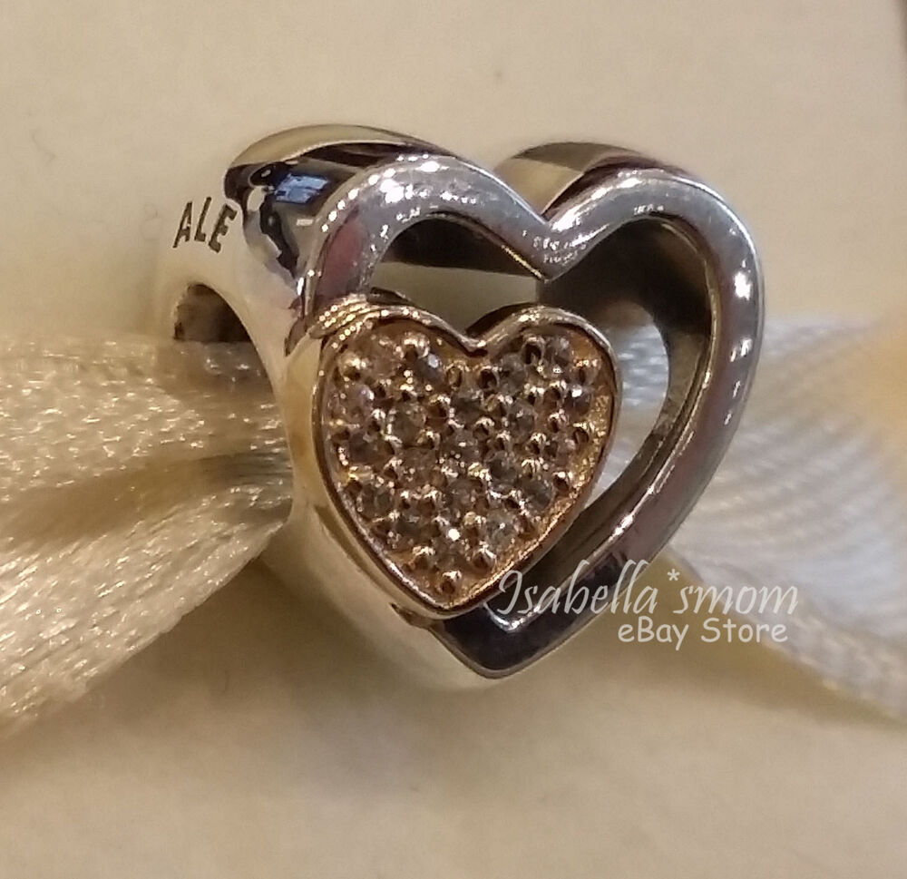 What Jewelry Store Sells Pandora: JOINED TOGETHER Genuine PANDORA Silver/14K GOLD Valentine