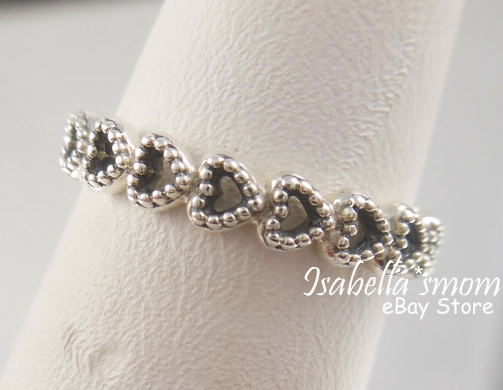 Pandora Silver Linked Love Ring