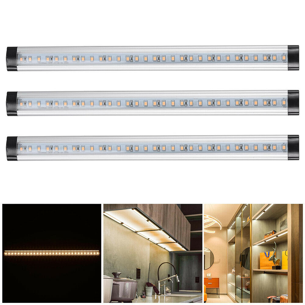 Light Under Kitchen Cabinet: 3pcs Kitchen Under Cabinet Shelf Counter LED Light Bar