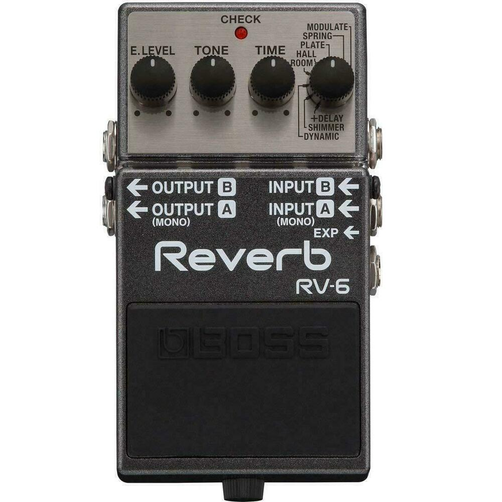 boss rv 6 digital delay reverb guitar effects pedal new 761294407127 ebay. Black Bedroom Furniture Sets. Home Design Ideas